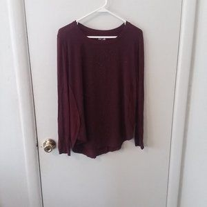 Apt. 9 Marron Black Studded Long Sleeve Top